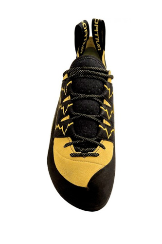 la sportiva katana lace yellow and black climbing shoe